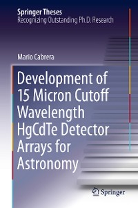 Cover Development of 15 Micron Cutoff Wavelength HgCdTe Detector Arrays for Astronomy