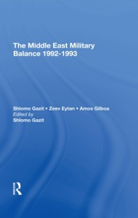 Cover Middle East Military Balance 1992-1993