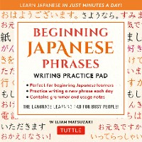 Cover Japanese Phrases Language Practice Pad