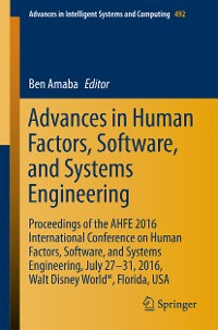 Cover Advances in Human Factors, Software, and Systems Engineering