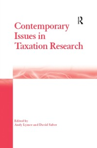 Cover Contemporary Issues in Taxation Research