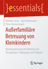 Cover Außerfamiliäre Betreuung von Kleinkindern