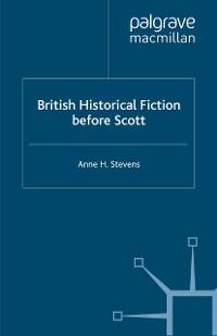 Cover British Historical Fiction before Scott