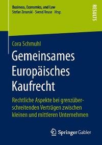 Cover Gemeinsames Europäisches Kaufrecht