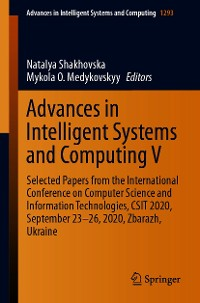 Cover Advances in Intelligent Systems and Computing V