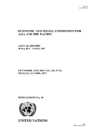 Cover Annual Report of the Economic and Social Commission for Asia and the Pacific 2017