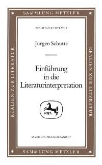 Cover Einfuhrung in die Literaturinterpretation