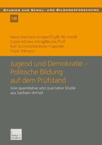 Cover Jugend und Demokratie - Politische Bildung auf dem Prufstand