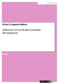 Cover Indicators of social and economic Development