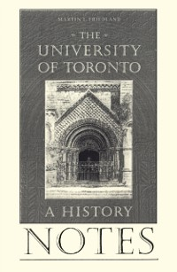 Cover Notes to the University of Toronto