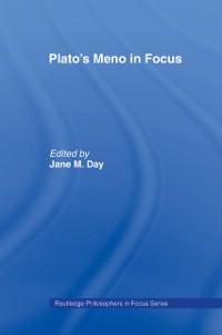 Cover Plato's Meno In Focus