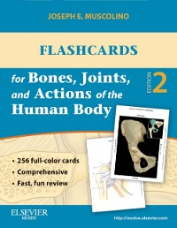 Cover Flashcards for Bones, Joints, and Actions of the Human Body - E-Book