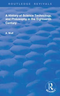 Cover History of Science Technology and Philosophy in the 18th Century