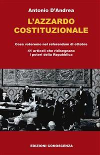 Cover L'azzardo costituzionale