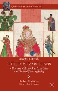 Cover Titled Elizabethans