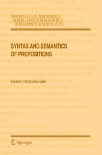 Cover Syntax and Semantics of Prepositions