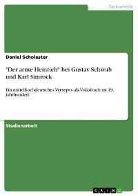"""Cover """"Der arme Heinrich"""" bei Gustav Schwab und Karl Simrock"""