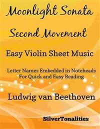 Cover Moonlight Sonata Second Movement Easy Violin Sheet Music