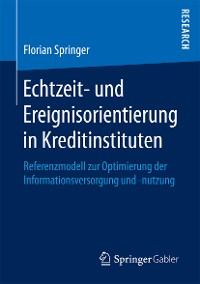 Cover Echtzeit- und Ereignisorientierung in Kreditinstituten