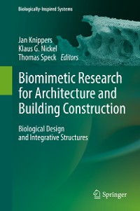 Cover Biomimetic Research for Architecture and Building Construction