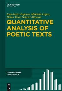 Cover Quantitative Analysis of Poetic Texts