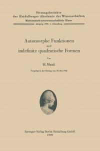 Cover Automorphe Funktionen und indefinite quadratische Formen