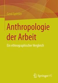 Cover Anthropologie der Arbeit