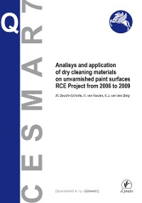 Cover Analisys and application of dry cleaning materials on unvarnished pain surfaces