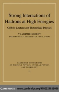 Cover Strong Interactions of Hadrons at High Energies