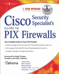 Cover Cisco Security Specialists Guide to PIX Firewall
