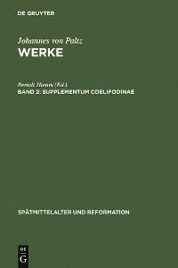 Cover Supplementum Coelifodinae