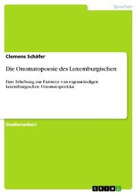 Cover Die Onomatopoesie des Luxemburgischen