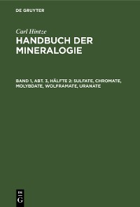 Cover Sulfate, Chromate, Molybdate, Wolframate, Uranate