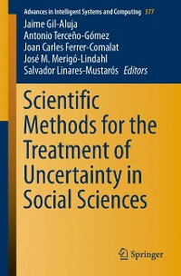 Cover Scientific Methods for the Treatment of Uncertainty in Social Sciences