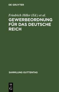 Cover Gewerbeordnung für das Deutsche Reich