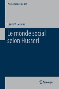 Cover Le monde social selon Husserl