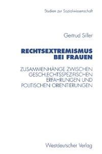 Cover Rechtsextremismus bei Frauen