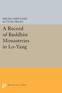 Cover A Record of Buddhist Monasteries in Lo-Yang