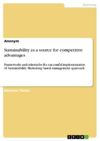 Cover Sustainability as a source for competitive advantages