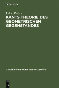 Cover Kants Theorie des geometrischen Gegenstandes
