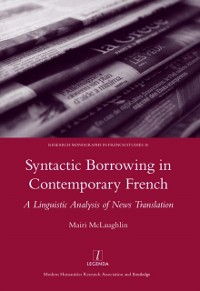 Cover Syntactic Borrowing in Contemporary French