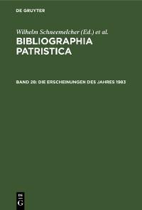 Cover Die Erscheinungen des Jahres 1983
