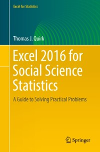 Cover Excel 2016 for Social Science Statistics
