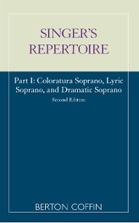 Cover The Singer's Repertoire, Part I