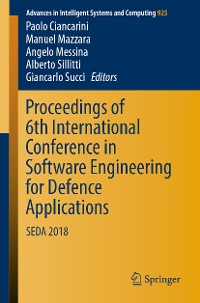Cover Proceedings of 6th International Conference in Software Engineering for Defence Applications