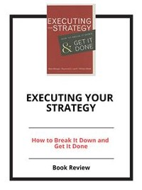 Cover Executing Your Strategy