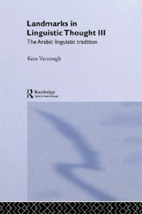 Cover Landmarks in Linguistic Thought Volume III