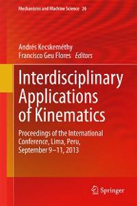 Cover Interdisciplinary Applications of Kinematics