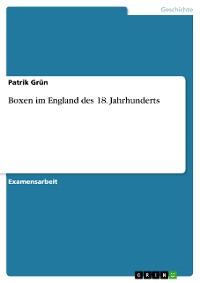 Cover Boxen im England des 18. Jahrhunderts
