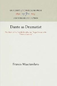 Cover Dante as Dramatist